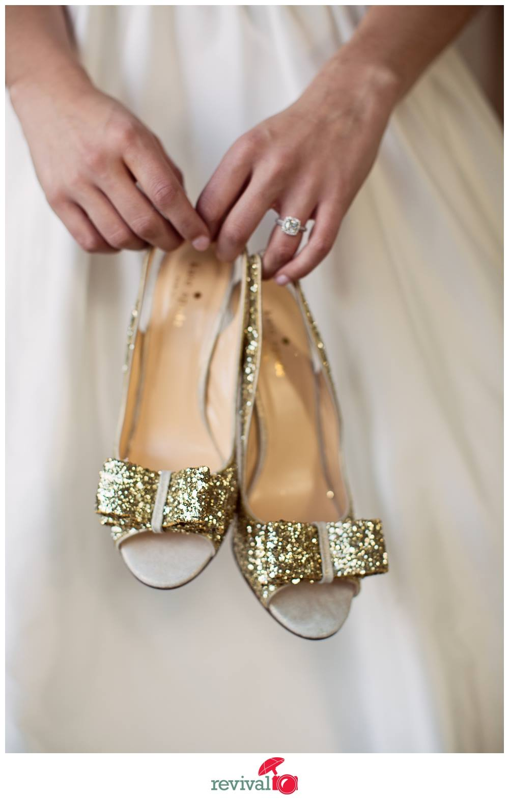 If you bought new heels for the big day, might be a good idea to break them in just a bit! OR, bring a pair of comfortable shoes to change into for the reception!