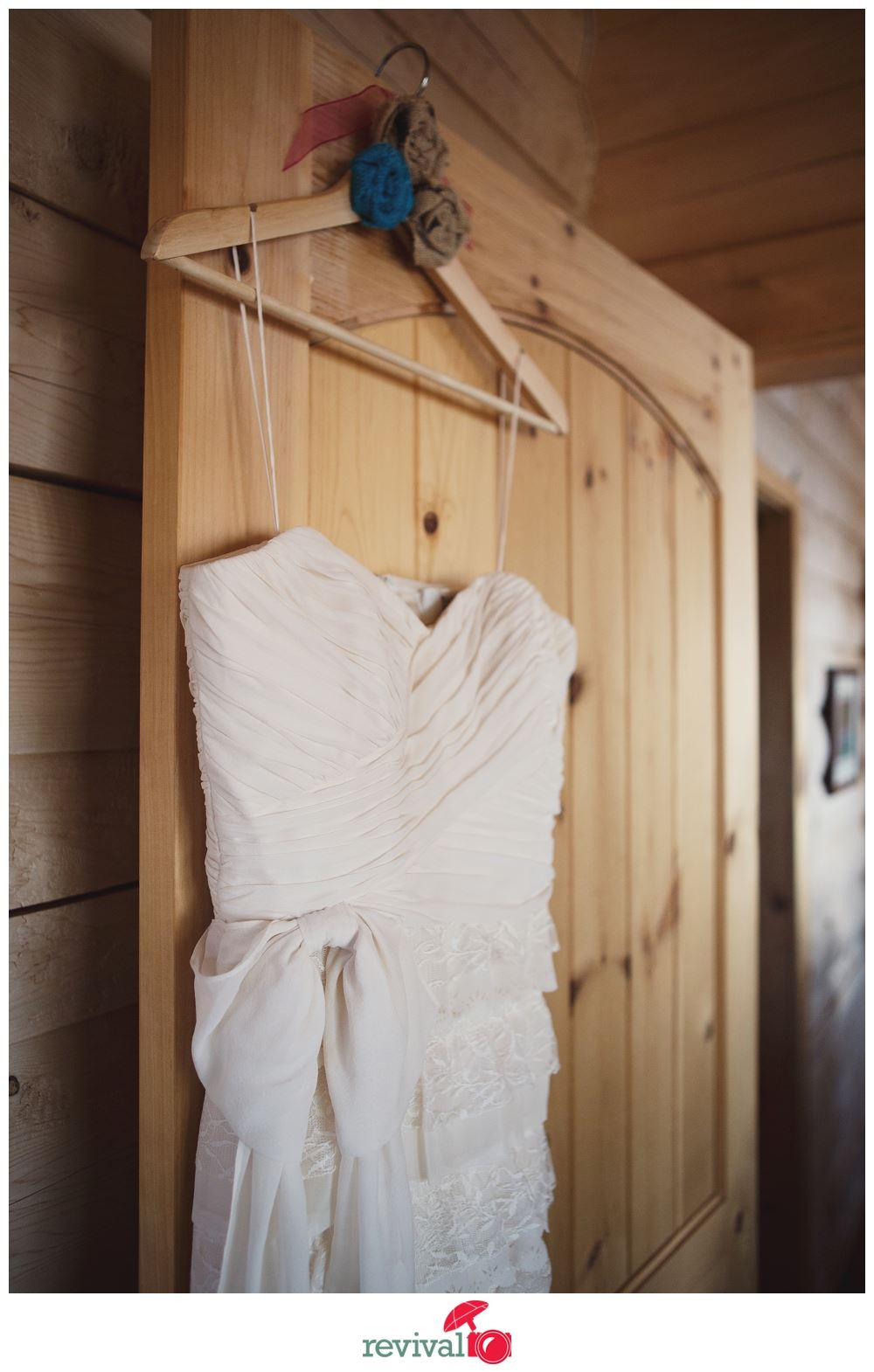 Personalized Wedding Dress Hanger Rustic Chic Photos by Revival Photography