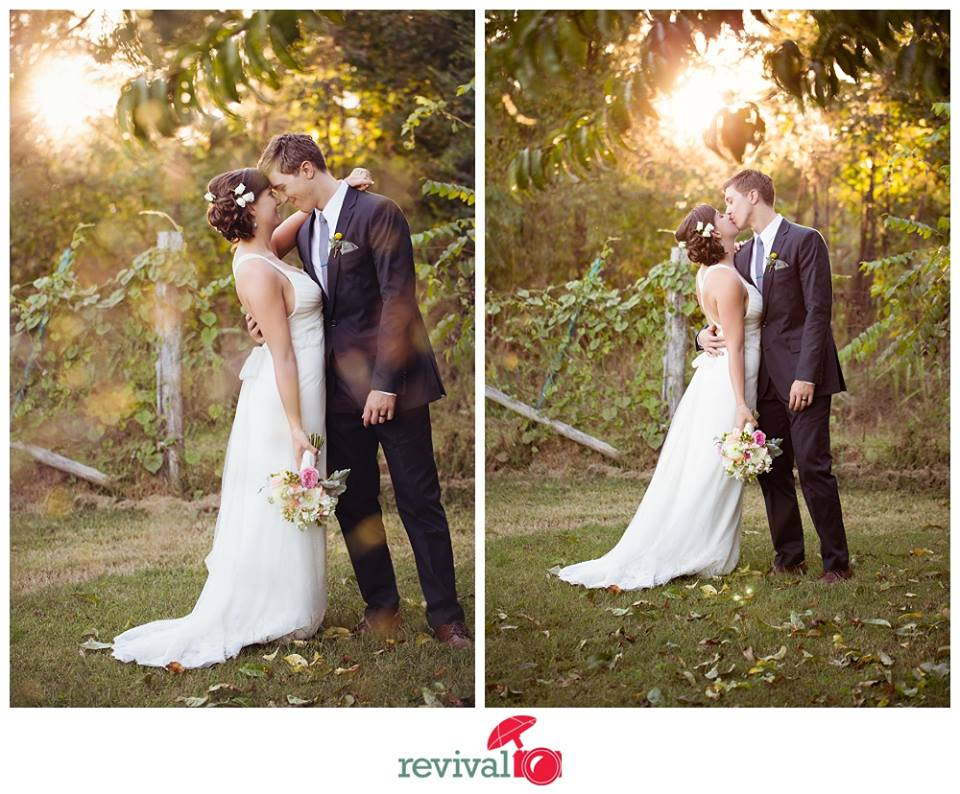 The best light of the day - the golden hour. Photos by Revival Photography