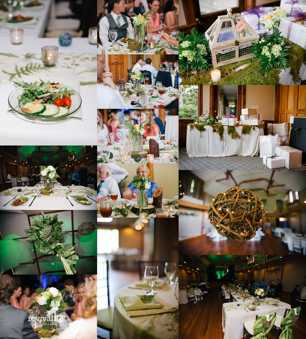 Earthy Elegant Wedding Reception Decor Photos by Revival Photography Wedding at the Highland Lake Inn in Flat Rock NC Wedding Photos by www.revivalphotography.com