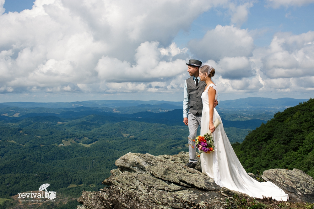 Mountaintop Bride and Groom Photos by Revival Photography Intimate Mountain Destination Wedding at Twickenham House Jefferson, NC www.revivalphotography.com