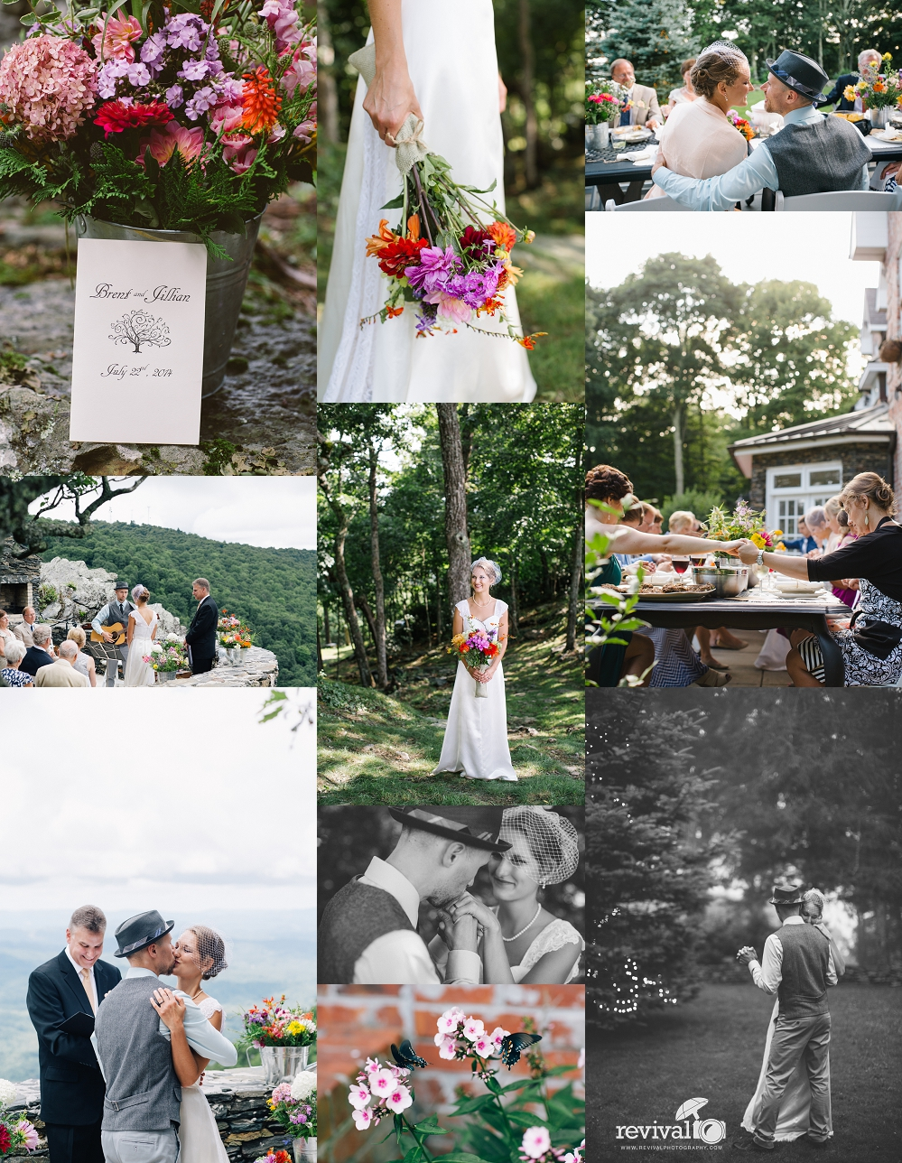 Photos by Revival Photography Intimate Mountain Destination Wedding at Twickenham House Jefferson, NC www.revivalphotography.com