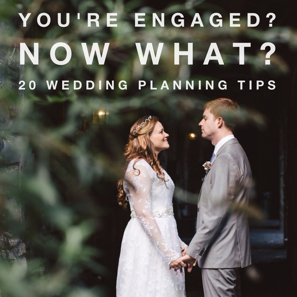 You're engaged? Now what? 20 Wedding Planning Tips (to keep you from going insane) www.revivalphotography.com/blog