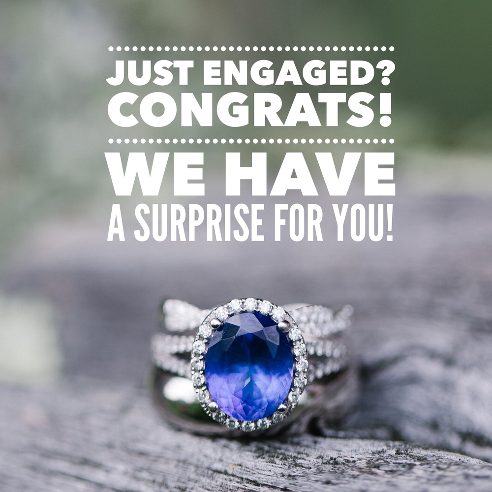 Just engaged Engagement Surprise Giveaway from Revival Photography www.revivalphotography.com