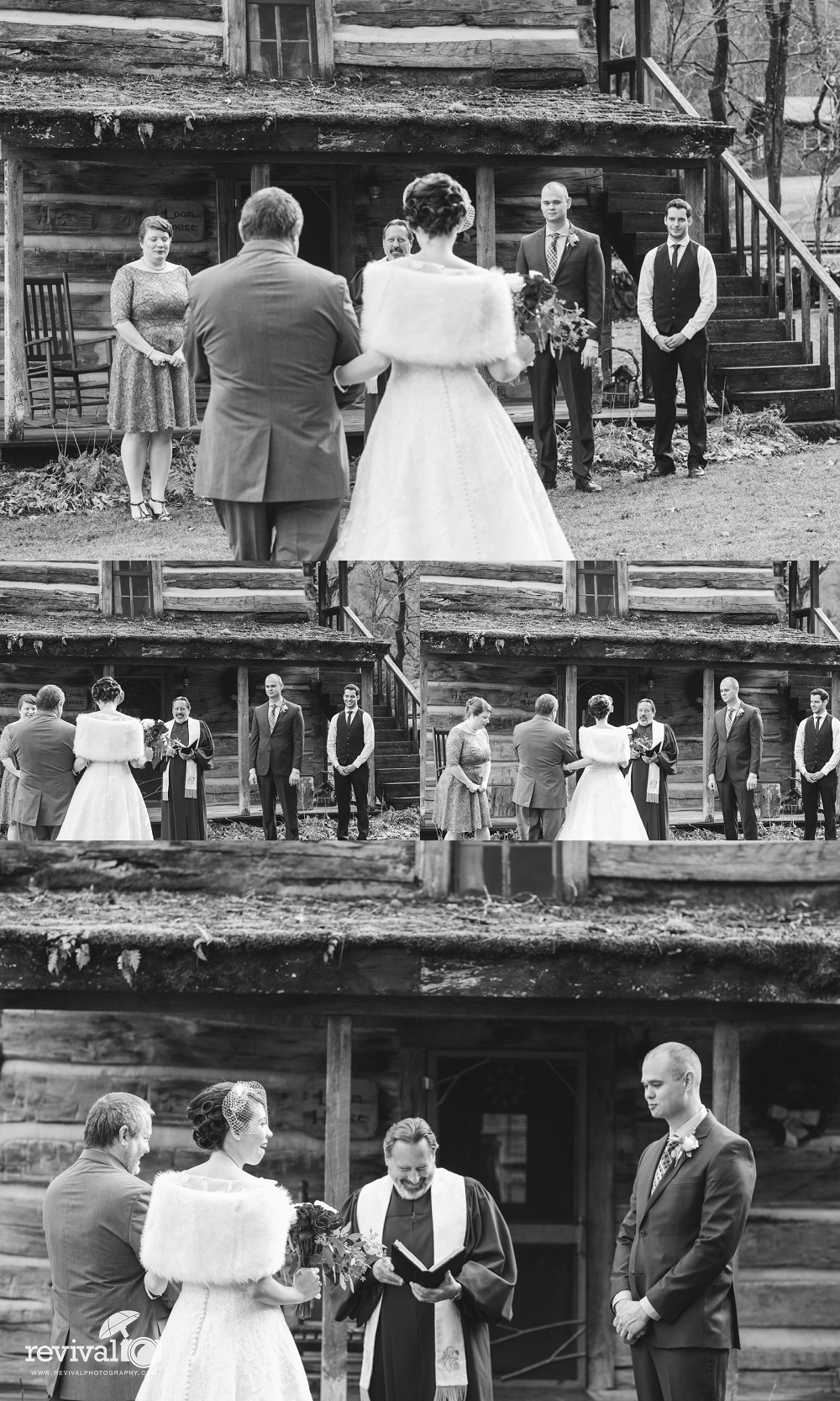 Photos by Revival Photography Valle Crucis Wedding Photographer Intimate Vintage Rustic Winter Wedding at The Mast Farm Inn North Carolina Weddings www.revivalphotography.com
