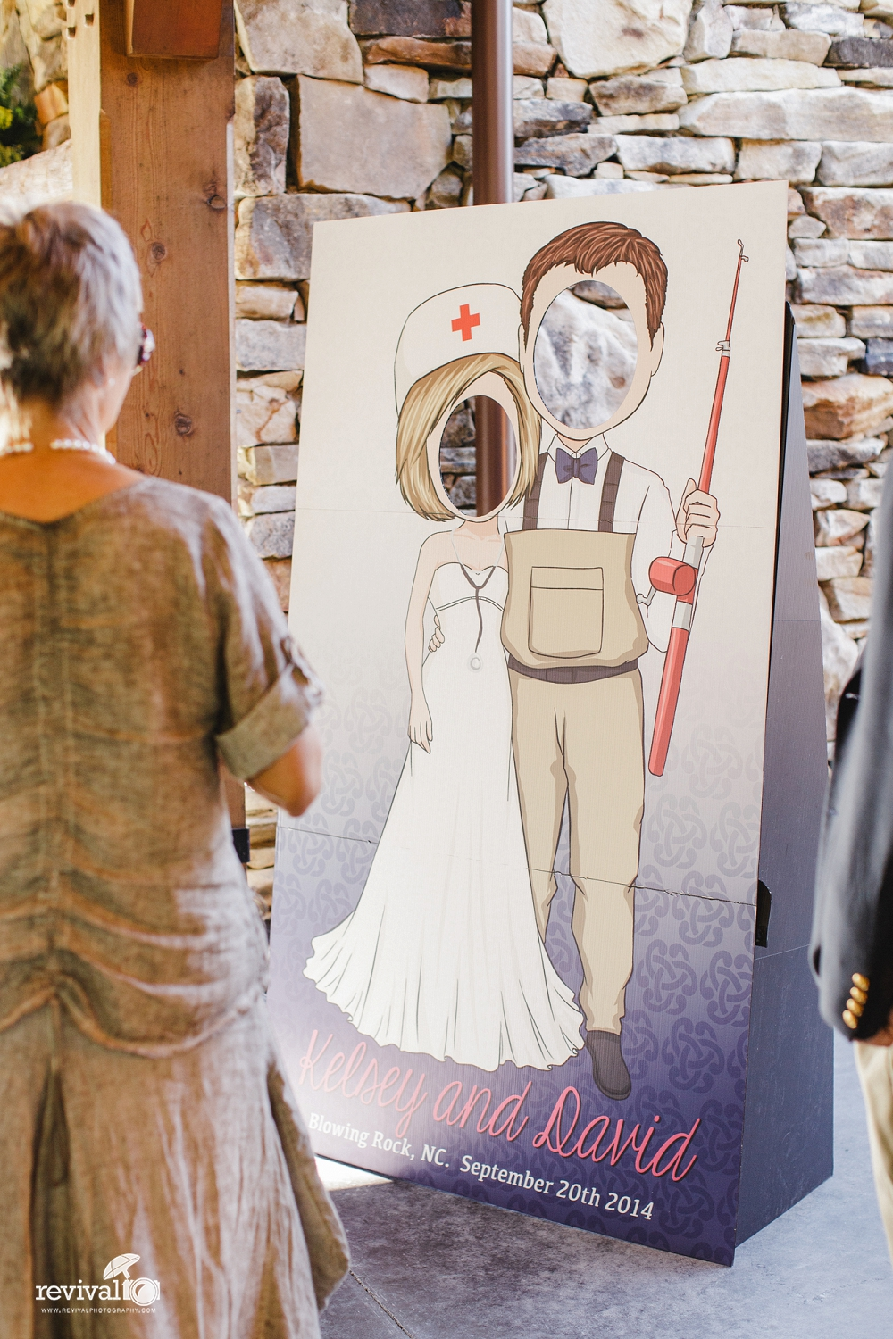 Photobooth/Bride + Groom Cardboard Cutout Photo Spot.
