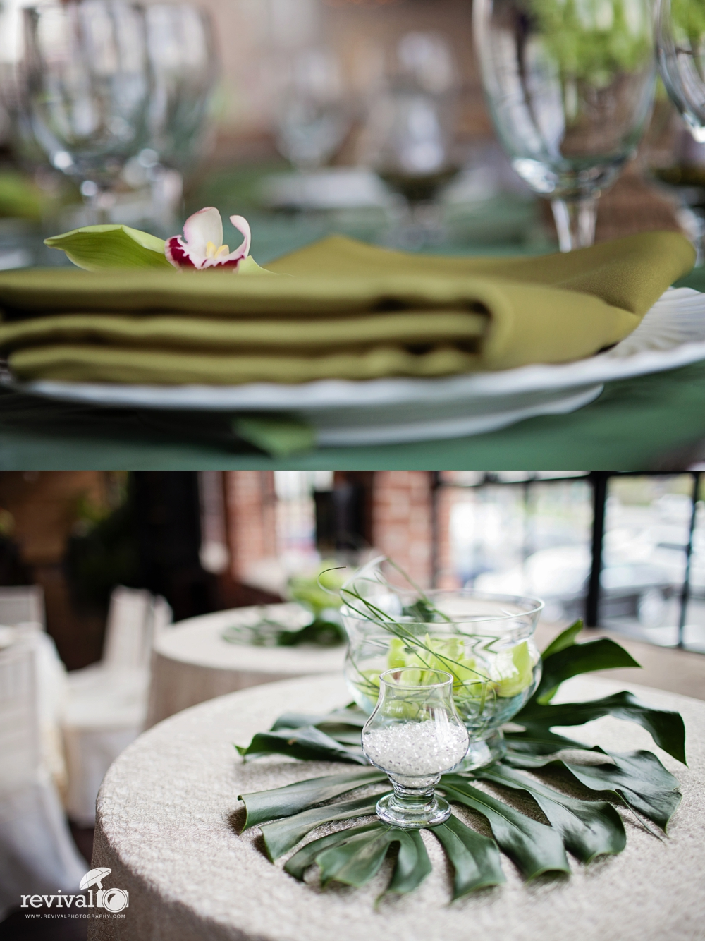 Centerpieces for weddings earthy green centerpieces Photo by Revival Photography www.revivalphotography.com