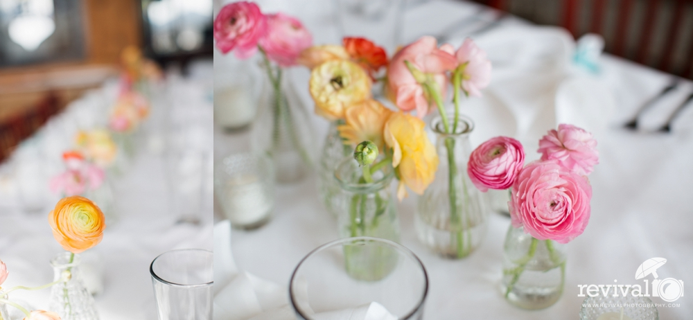 Soft pastel wedding colored centerpieces for weddings