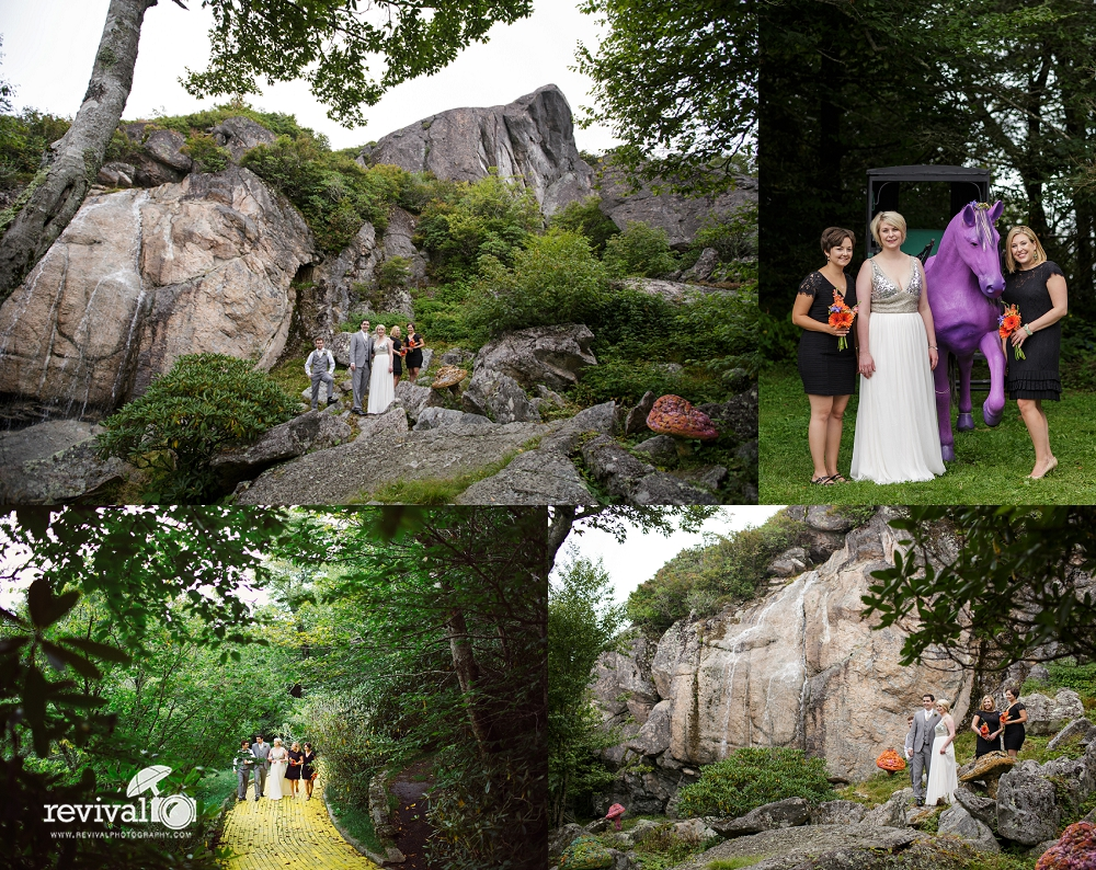 Whimsical Creative Destination Wedding at Abandoned Themepark The Land of Oz in Beech Mountain www.revivalphotography.com