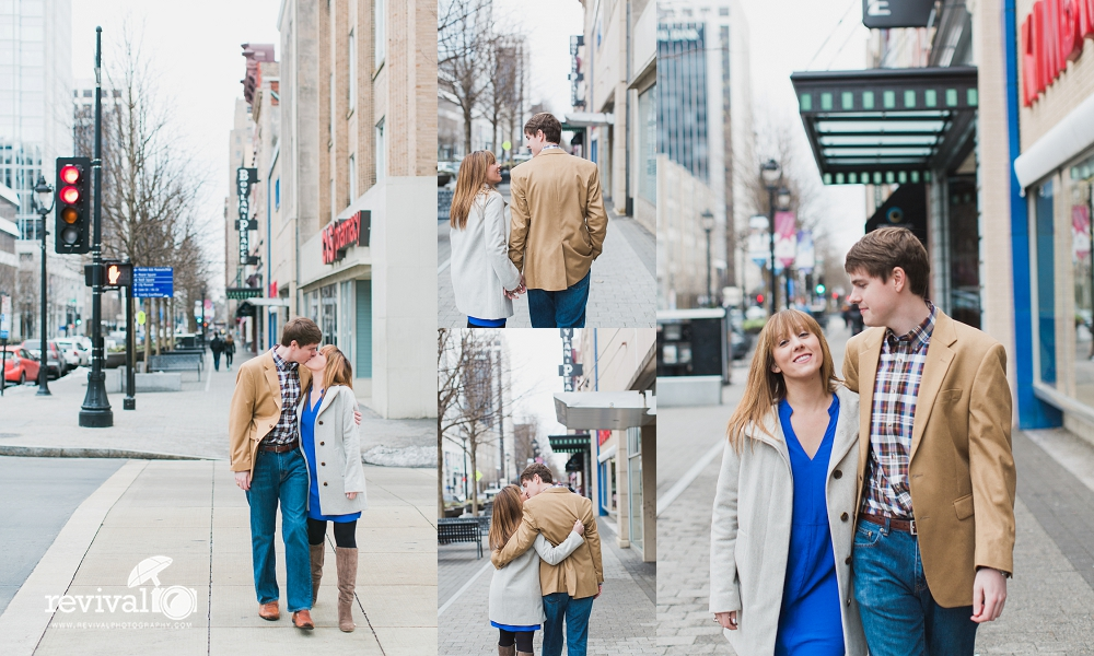 A Downtown Raleigh Engagement Session by Revival Photography NC Wedding Photographers in Raleigh NC www.revivalphotography.com