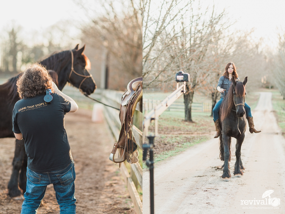 behind the scenes from our video  photoshoot with bridle