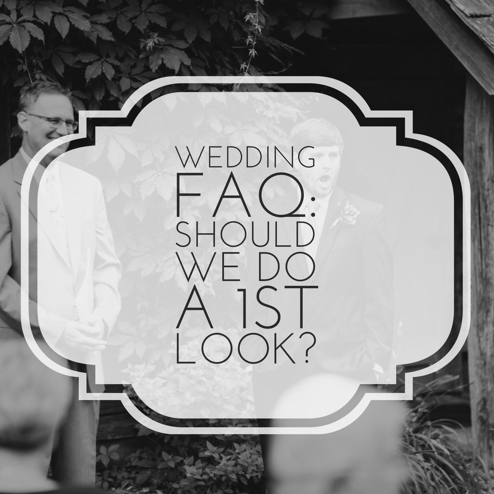 "Wedding FAQ: ""Should We do a 1st Look?"" by Revival Photography www.revivalphotography.com"