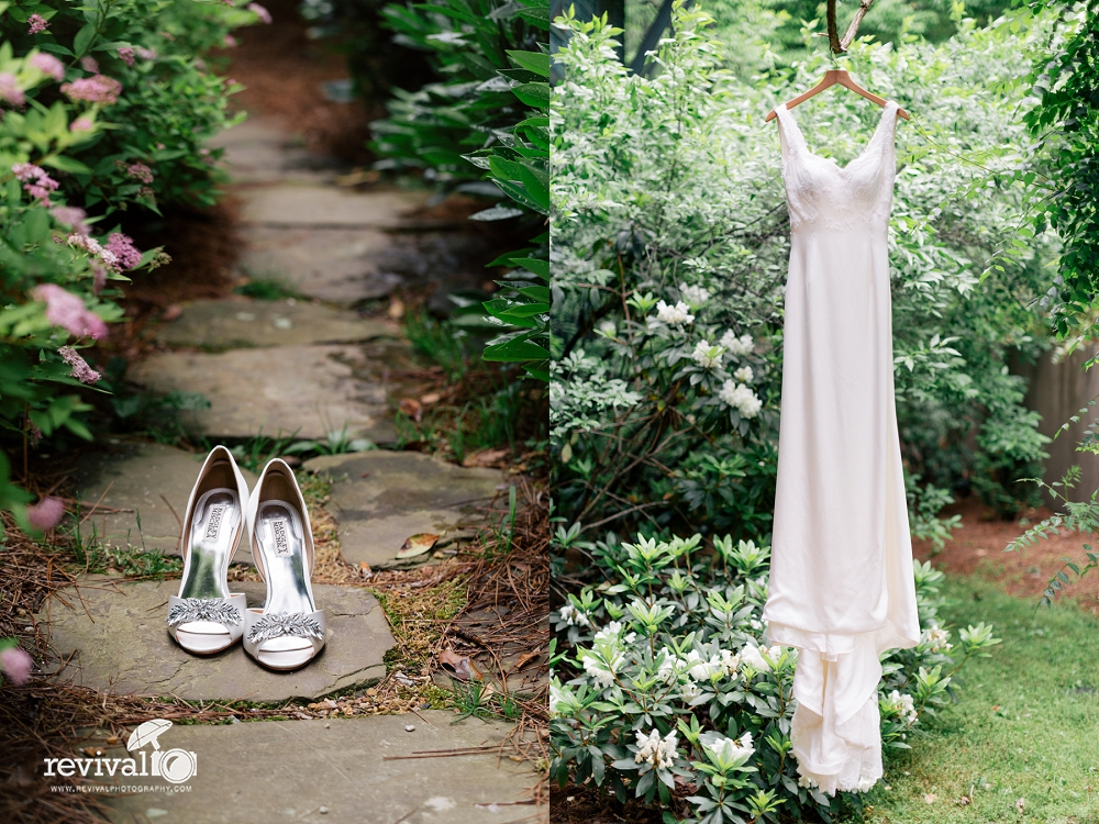 Isabel O'Neil Dress and Badgley Mischka wedding shoes