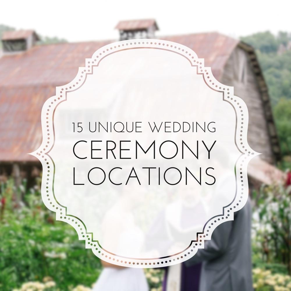 15 Unique Wedding Ceremony Locations by Revival Photography NC Wedding Photographer www.revivalphotography.com