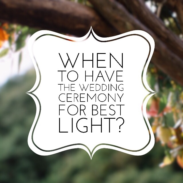 """When to Start the Wedding Ceremony for Best Light?"" by Revival Photography NC Wedding Photographers Destination Wedding Photographers www.revivalphotography.com"