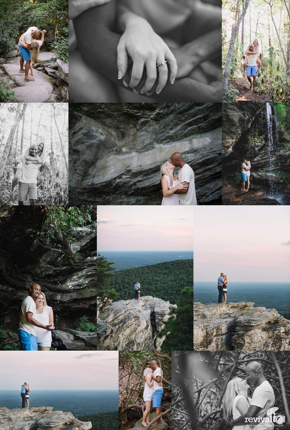 Vanessa + Patrick's Engagement Adventure at Hanging Rock State Park by Revival Photography www.revivalphotography.com