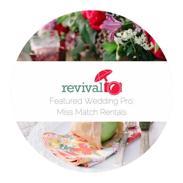 Featured Wedding Pro: Andi Gelsthorpe with Miss Match Rentals by Revival Photography NC Wedding Professionals www.revivalphotography.com