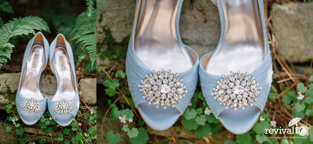 "Blue Wedding Shoes - Wedding Traditions: ""5 Ways to do Something Blue"" on the Revival Photography Blog Photos by Revival Photography NC Wedding Photographers www.revivalphotography.com"