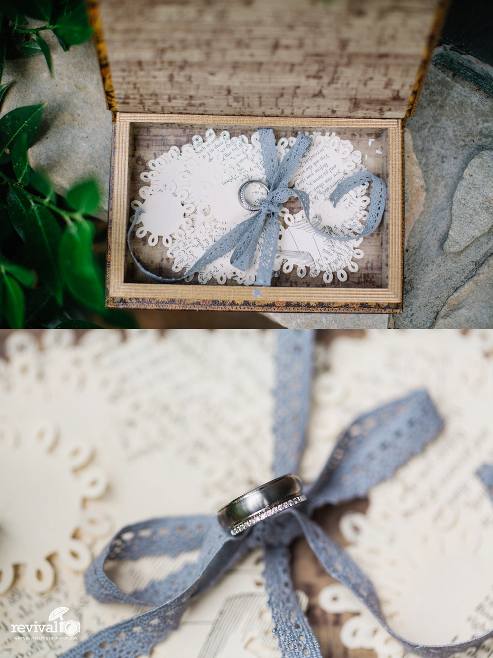 "Ring Box Details - Wedding Traditions: ""5 Ways to do Something Blue"" on the Revival Photography Blog Photos by Revival Photography NC Wedding Photographers www.revivalphotography.com"