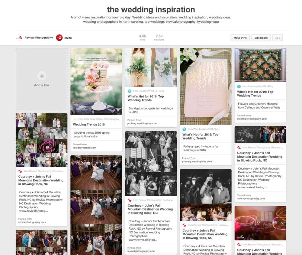 Revival Photography on Pinterest - Our Top 5 Favorite 2016 Wedding Trends