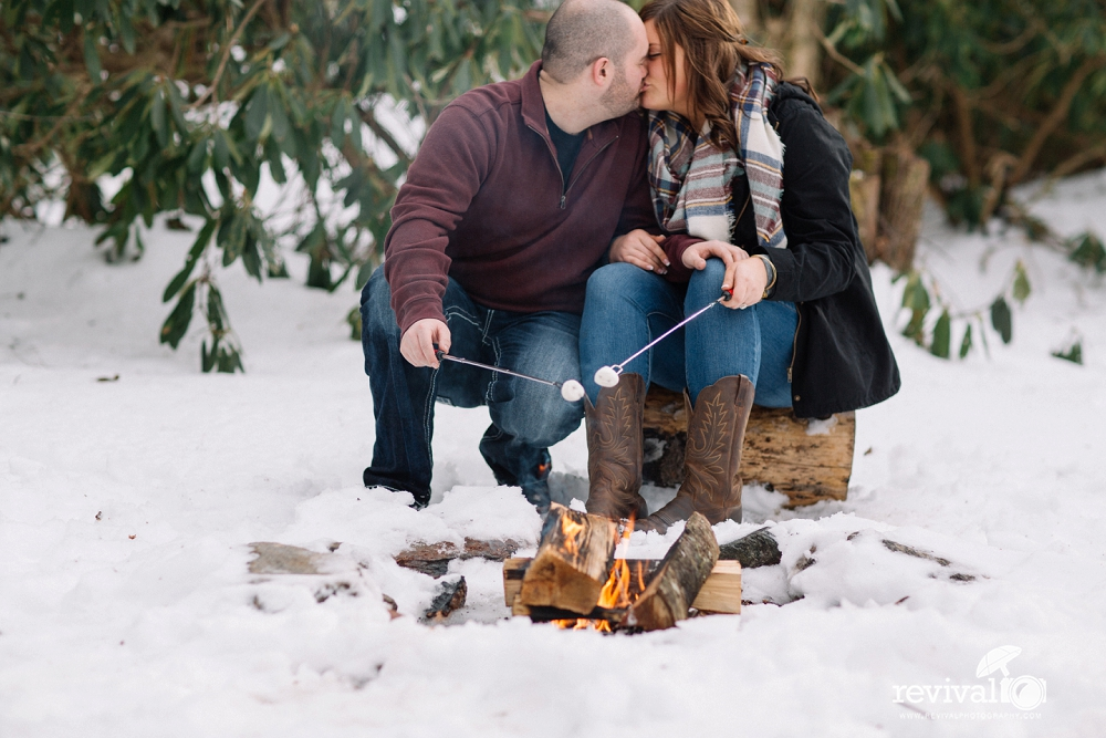 Mary + Phillip: A Winter Engagement Session at Honey Bear Campground, Boone, NC NC Wedding Photographers Revival Photography www.revivalphotography.com
