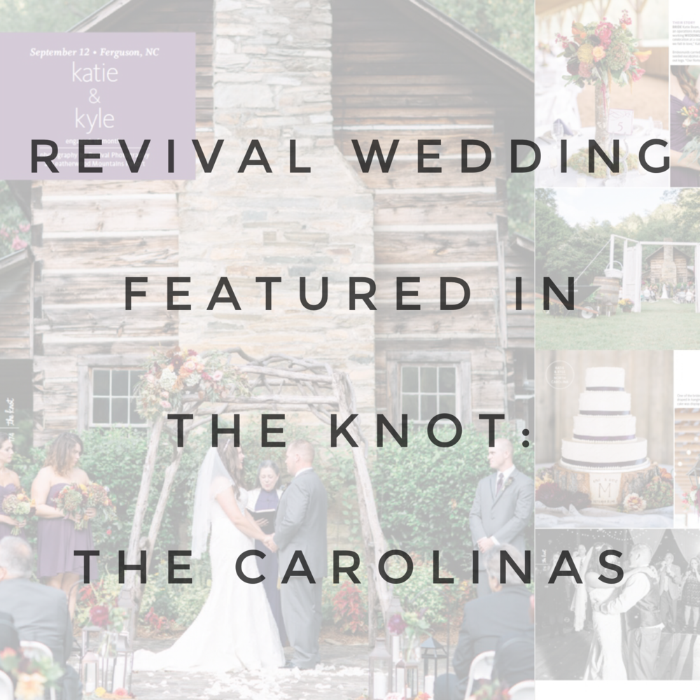 Revival Photography Featured in The Knot: The Carolinas Real Weddings Fall 2016 Issue www.revivalphotography.com