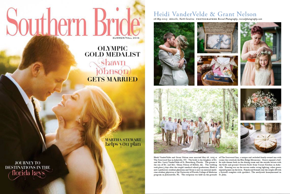 Revival Photography Featured in Southern Bride Summer/Fall 2016 Issue