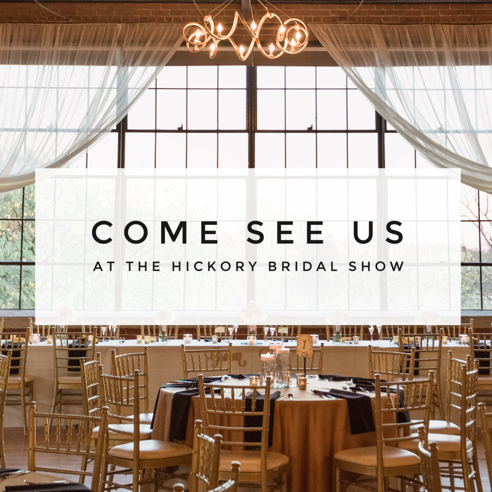 Hey guys! We are so excited to be participating in the Hickory Bridal Show on Sunday, August the 28th and we really want to see you guys there - Revival Photography in Hickory, NC NC Husband and Wife Wedding Photographers www.revivalphotography.com