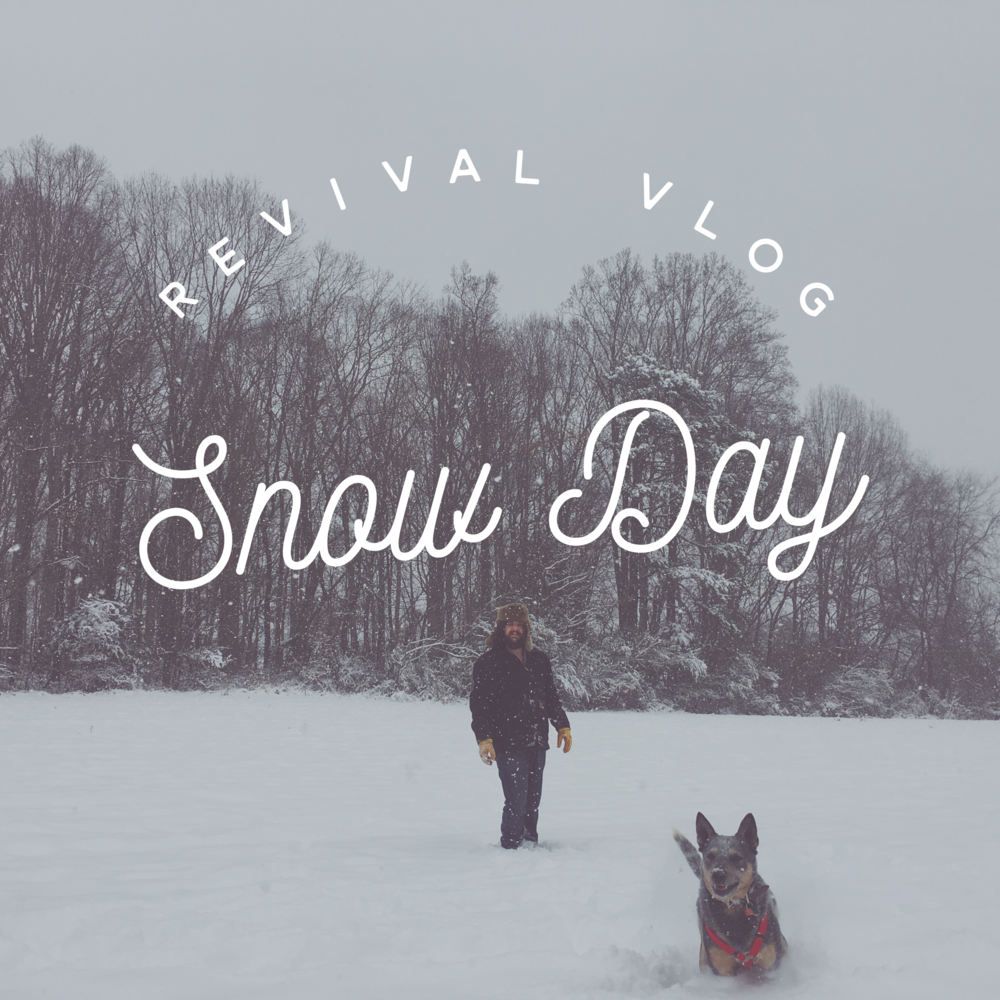Revival Vlog: Snow Day! by Revival Photography NC Wedding Photographers Personal Vlog www.revivalphotography.com