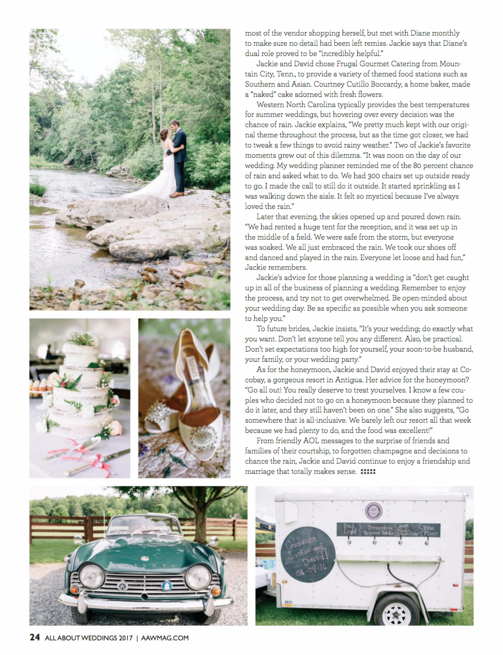 Jackie + David's Wedding was featured on the Cover of All About Weddings Magazine! Photography by Revival Photography www.revivalphotography.com