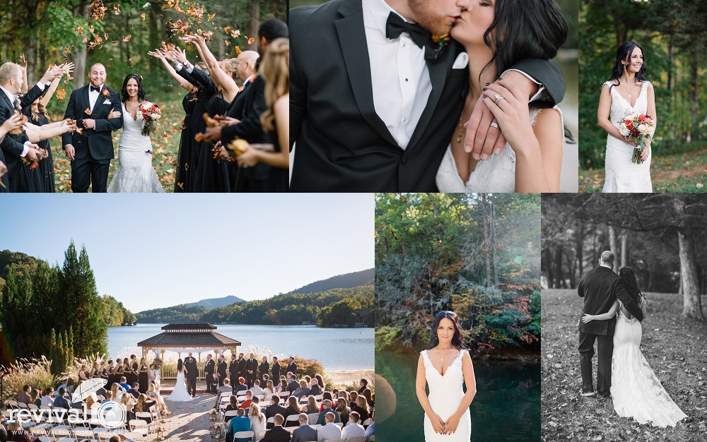 Candace + Chad's Fall Wedding at Rumbling Bald Resort, Lake Lure, NC Wedding Photography by Revival Photography NC Wedding Photographer www.revivalphotography.com