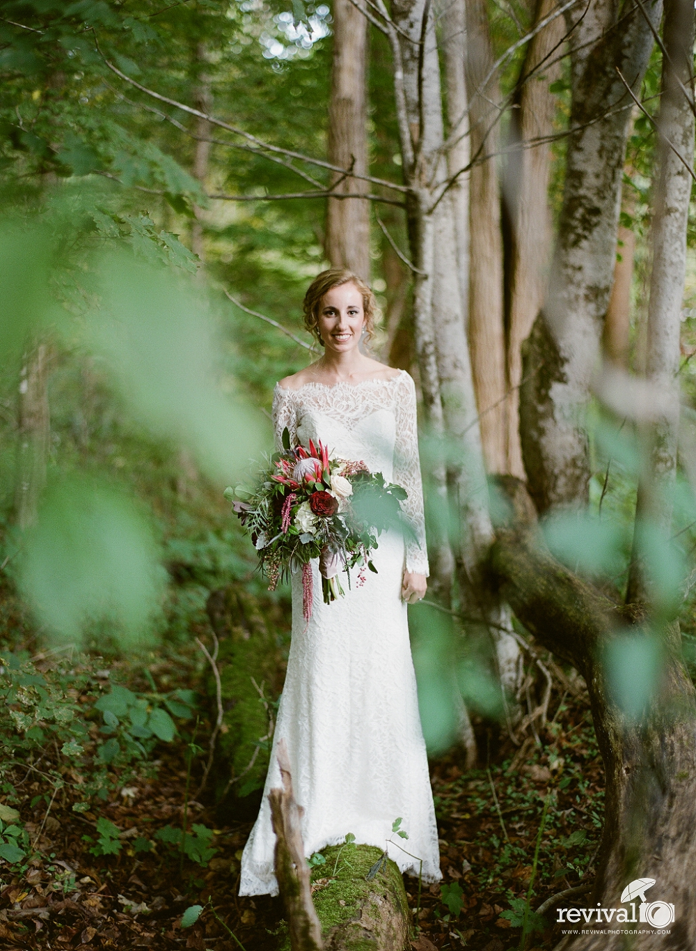 Kendra's Mountain Woodlands Bridal Session in Boone, NC