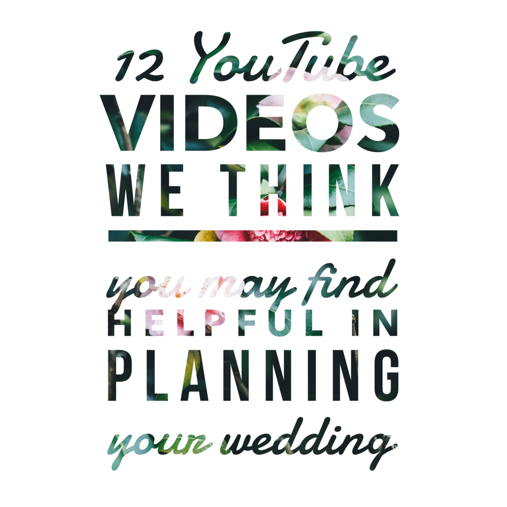 12 Youtube Videos We Think You May Find Helpful in Planning Your Wedding by Revival Photography www.revivalphotography.com