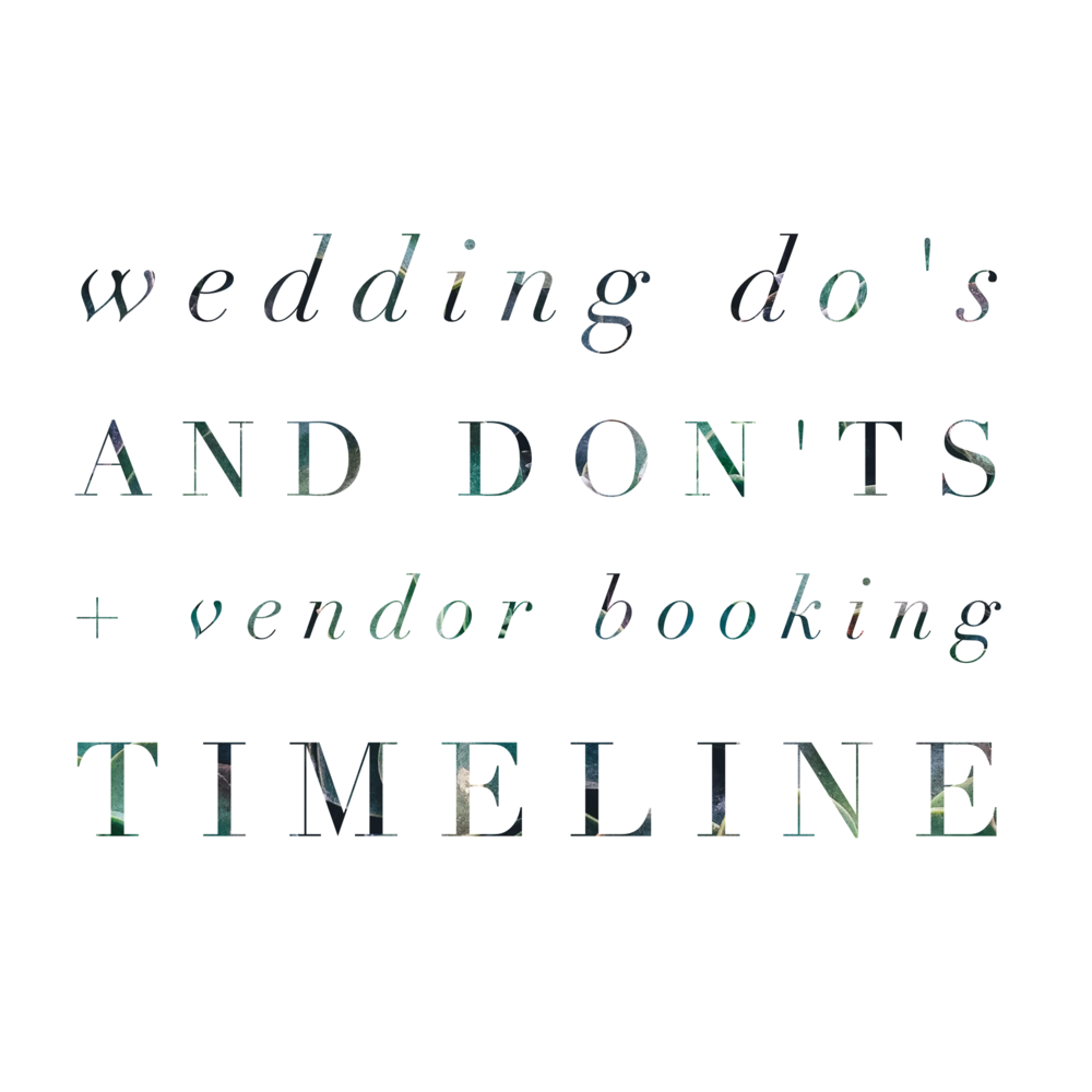 Revival Wedding Do's and Don'ts + Vendor Booking Timeline