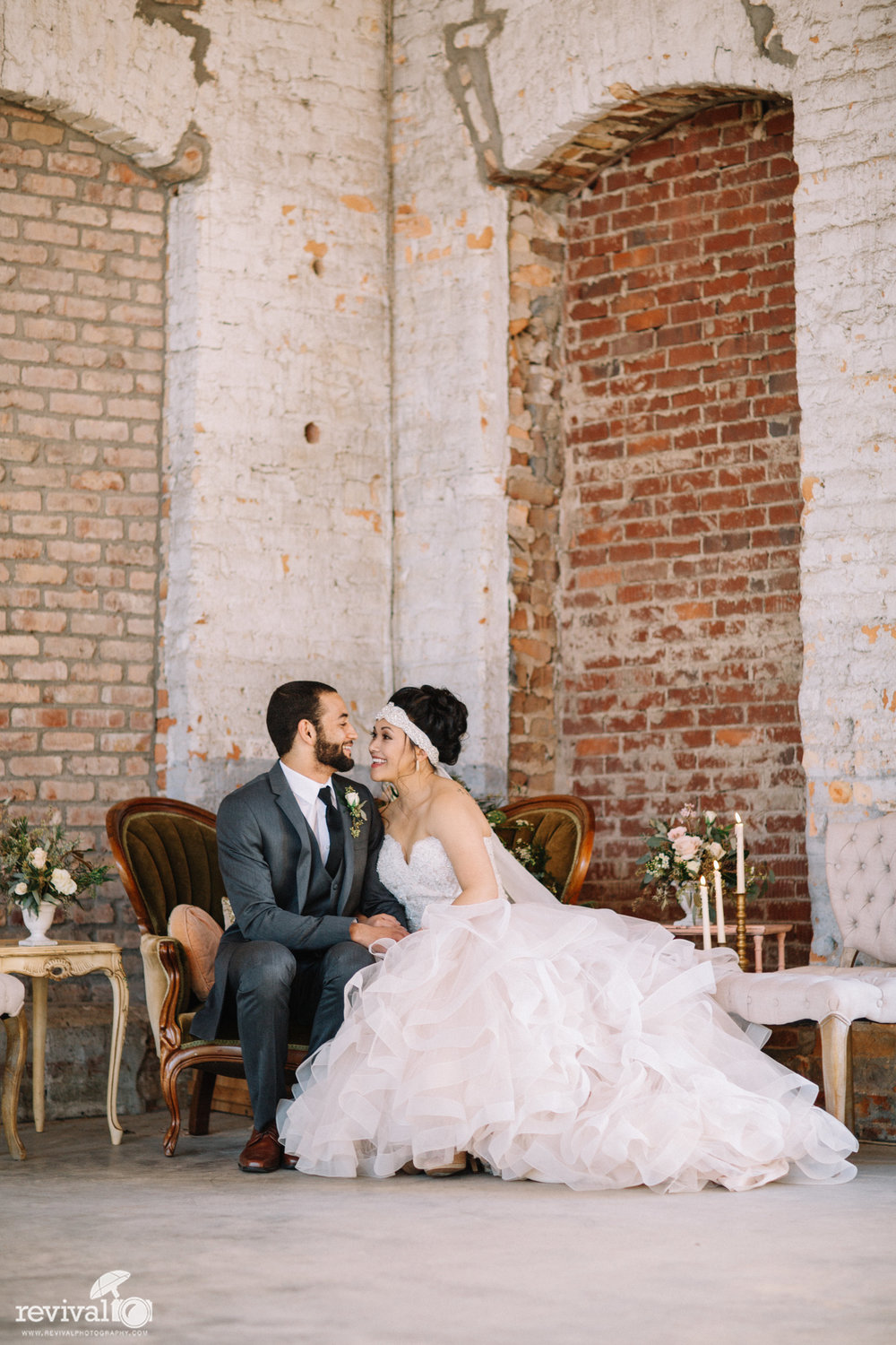 Southern Cotton Mill Romantic Industrial Shoot - A Twist on the Classic Southern Wedding Styled Shoot at Providence Cotton Mill, Maiden, North Carolina Photography by Revival Photography NC Wedding Photographers www.revivalphotography.com