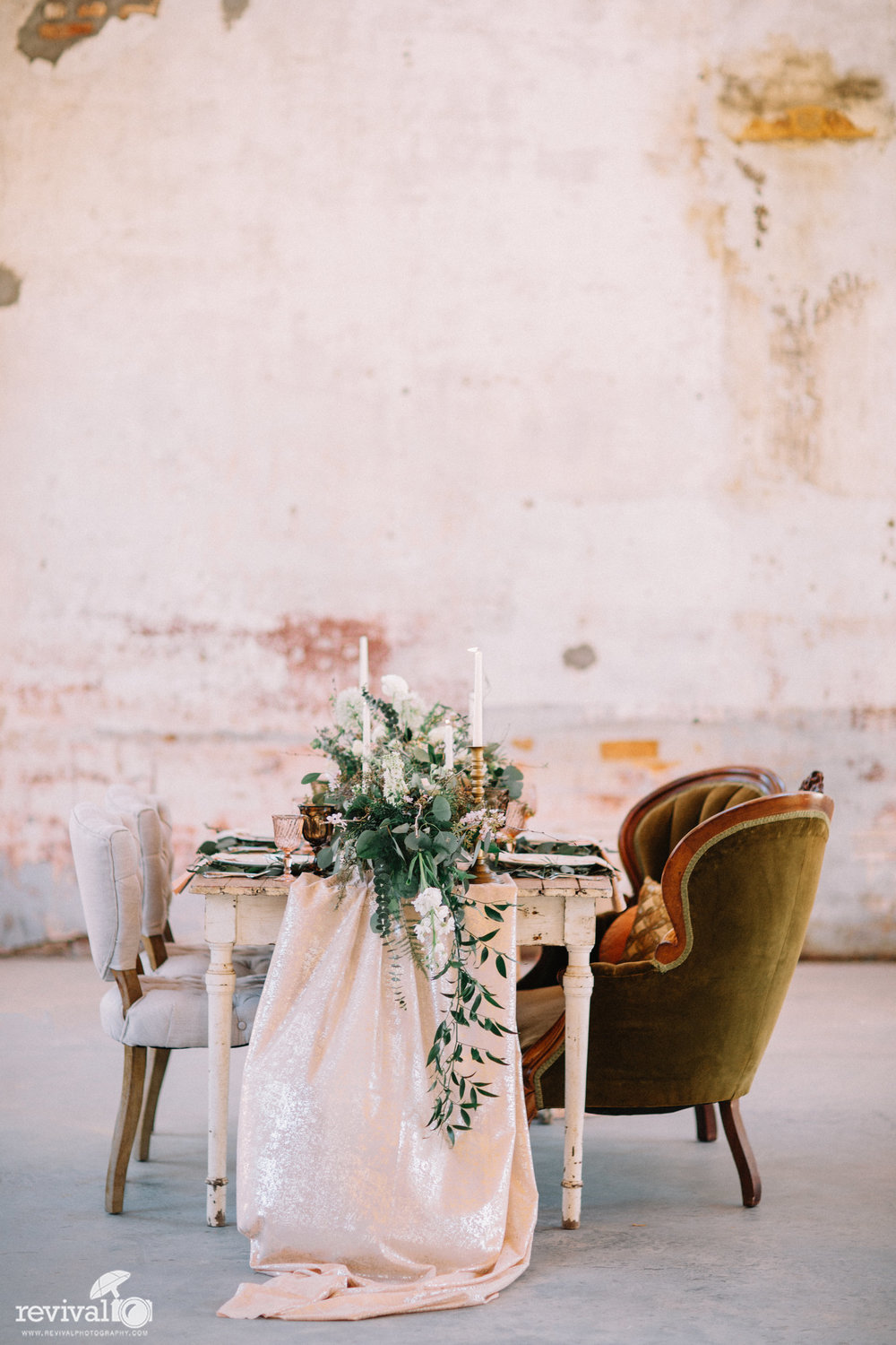 Southern Cotton Mill Romantic Industrial Shoot - A Twist on the Classic Southern Wedding Styled Shoot at Providence Cotton Mill, Maiden NC Photography by Revival Photography www.revivalphotography.com