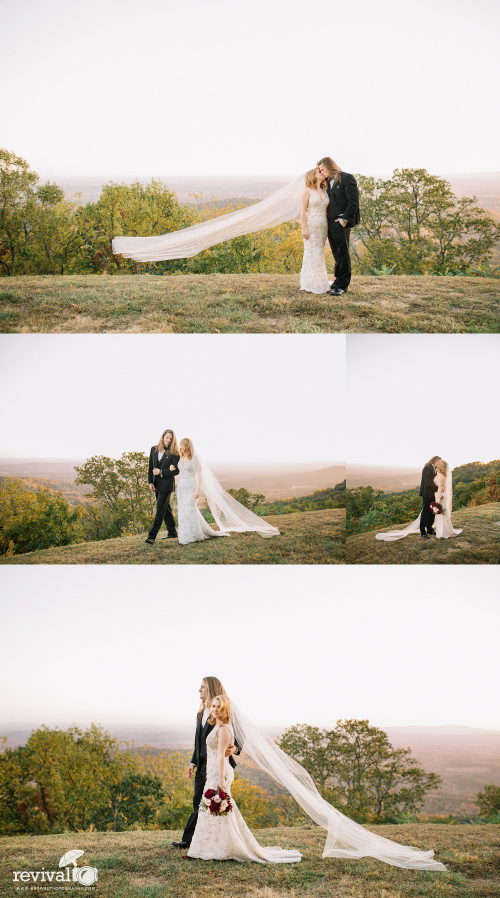 Faith + Howard's Fall Destination Wedding at The Cliffs at Glassy Mountaintop Chapel Photos by Revival Photography www.revivalphotography.com