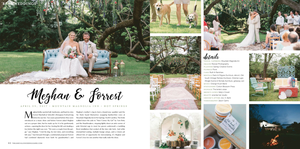 Revival Photography Featured in All New Asheville Wedding Guide www.revivalphotography.com