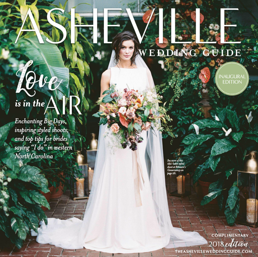 Cover - Revival Photography Featured in All New Asheville Wedding Guide www.revivalphotography.com
