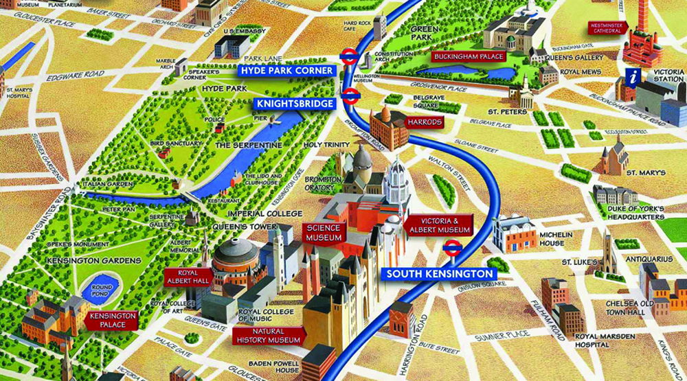 Picadilly Line Map - Lulu Pinney (Source:  Eye Magazine )