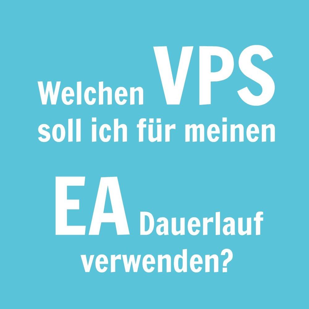 Welchen VPS für EA für MT4 oder MT4 mieten