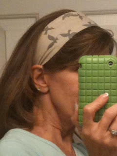 I folded the widest part in a little for this look, and sent a surprise photo/text message to Holli