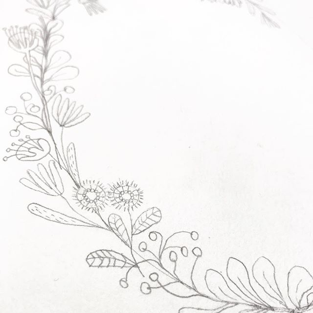 Waiting on my new paint brushes from Amazon today. So it's a pencil kind of day. Every day is another day into this new creative space I'm embracing. · #livethelifeyoulove #creative #creativehappylife #createdaily #florals #borders #details #ncartist #itsbydesign