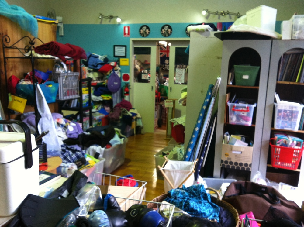 RSPCA Op Shop, Sherwood - the back room, don't miss it!