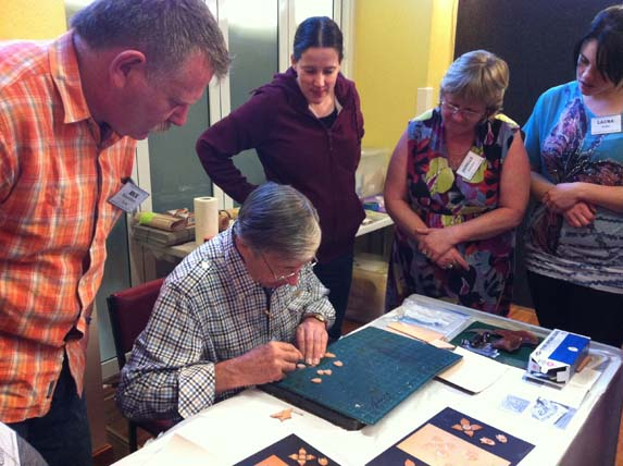 Embossed Applique workshop with Peter Main