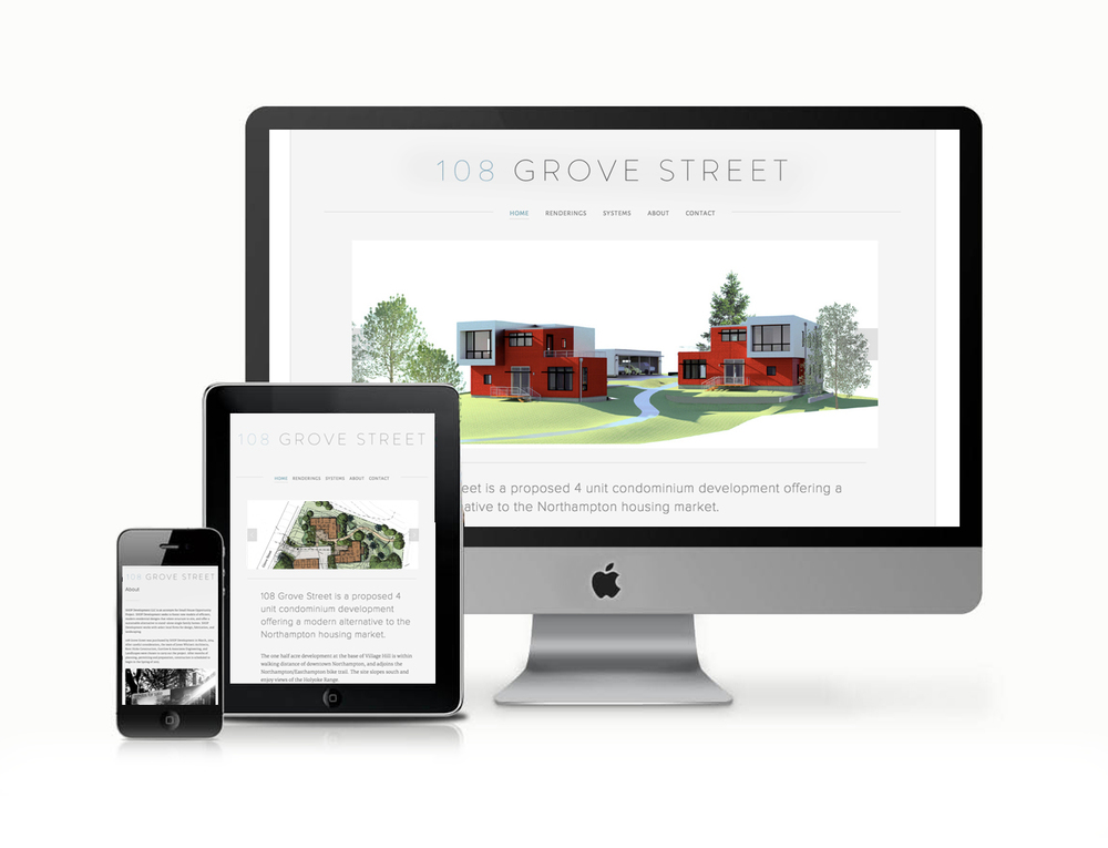 Web design for Shop Development Northampton, MA.