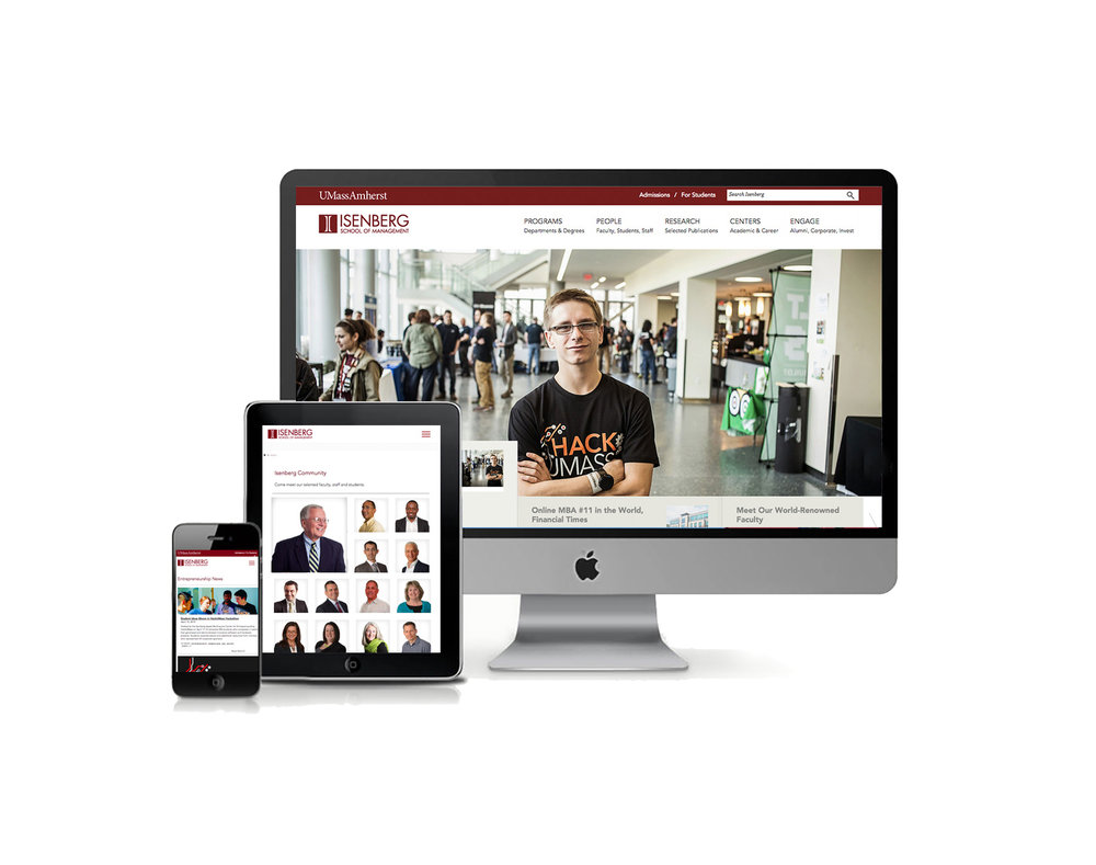 Web design for Isenberg School of Management at the University of Massachusetts.