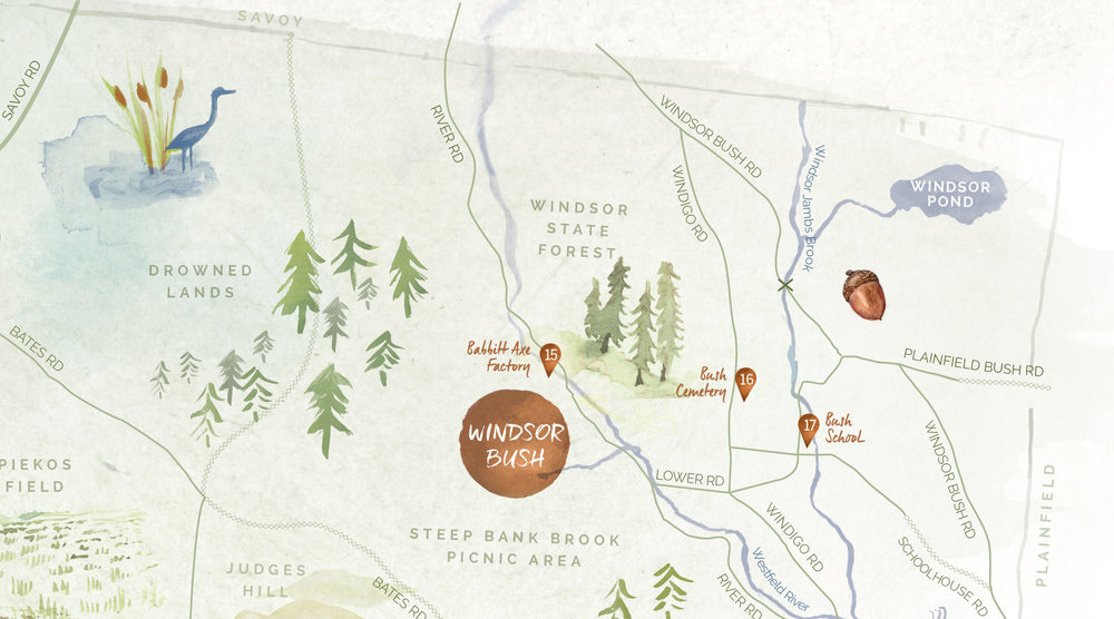 Detail of Illustrated map for Friends of Windsor