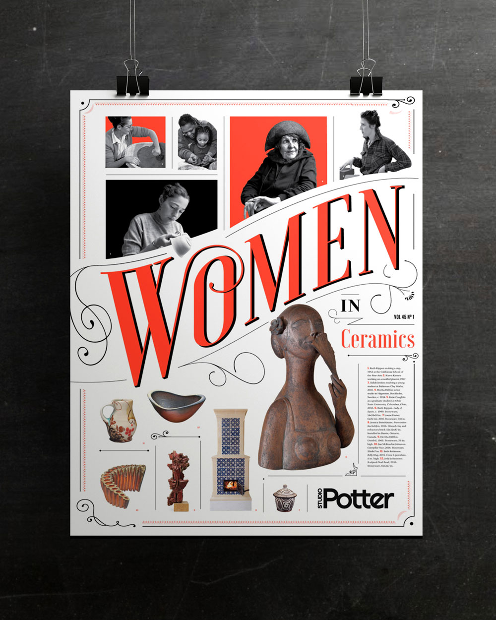 Poster design for New England based magazine, Studio Potter.