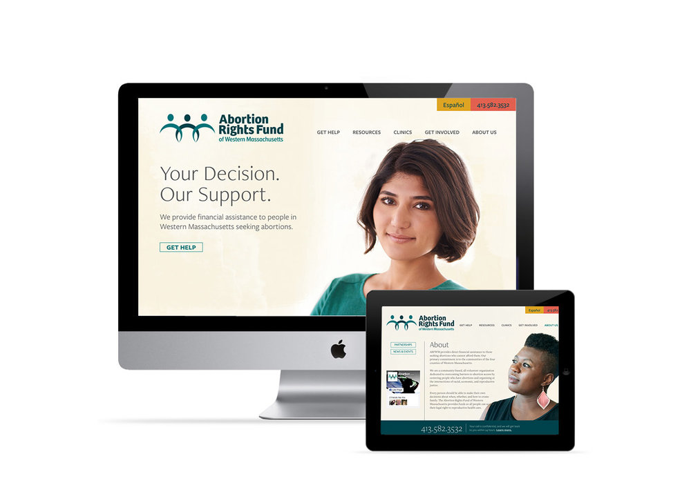 Website design and programming in Drupal for Abortion Rights Fund of Western Massachusetts. www.arfwm.org